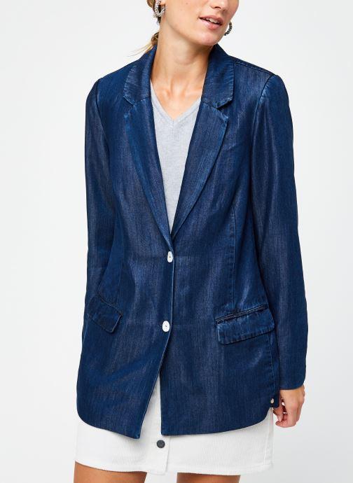 Vêtements Scotch & Soda Ams Blauw chic denim Tencel blazer Bleu vue droite