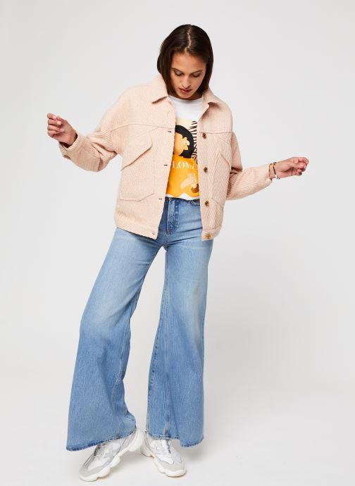 Vêtements Scotch & Soda Seasonal Extra Wide Leg High Rise - Blue Butter Bleu vue bas / vue portée sac