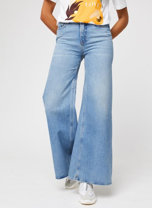 Seasonal Extra Wide Leg High Rise - Blue Butter