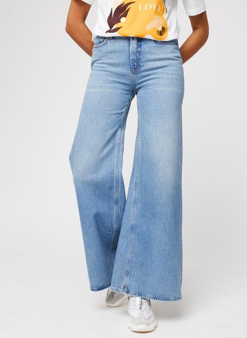 Vêtements Scotch & Soda Seasonal Extra Wide Leg High Rise - Blue Butter Bleu vue détail/paire