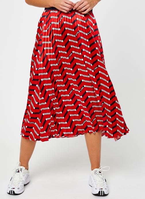 Vêtements Scotch & Soda Plisse skirt with allover print Rouge vue détail/paire