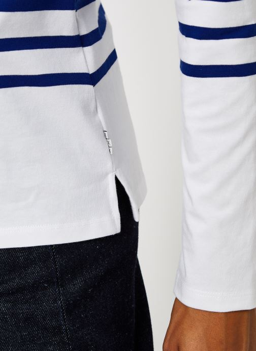 Vêtements Scotch & Soda Classic engineered breton tee Blanc vue face