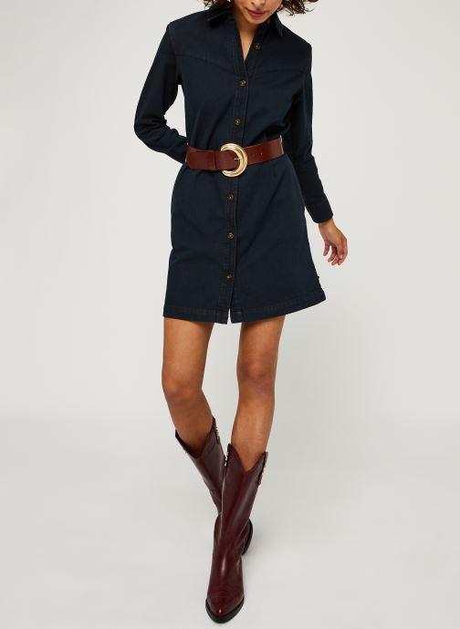 Vêtements Scotch & Soda Ams Blauw denim shirt dress with seasonal washes Noir vue bas / vue portée sac