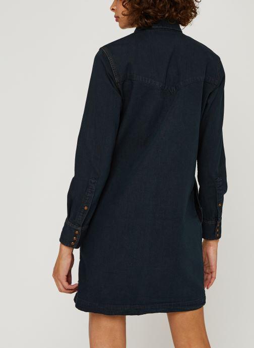 Vêtements Scotch & Soda Ams Blauw denim shirt dress with seasonal washes Noir vue portées chaussures