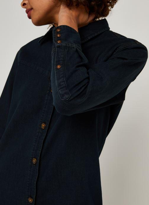 Vêtements Scotch & Soda Ams Blauw denim shirt dress with seasonal washes Noir vue face