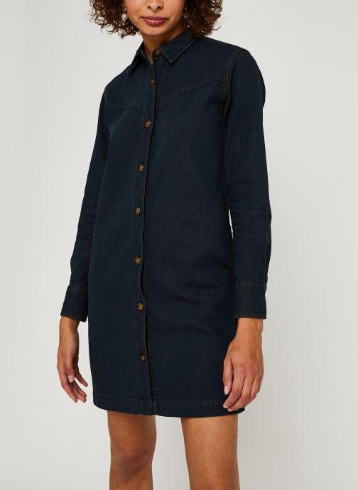 Vêtements Scotch & Soda Ams Blauw denim shirt dress with seasonal washes Noir vue droite