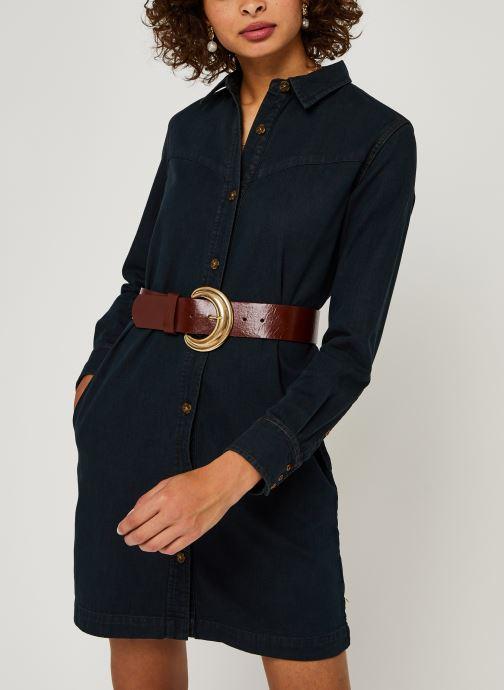 Vêtements Scotch & Soda Ams Blauw denim shirt dress with seasonal washes Noir vue détail/paire