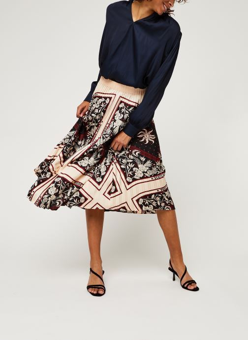 Vêtements Scotch & Soda Plisse skirt with scarf inspired print Rose vue bas / vue portée sac