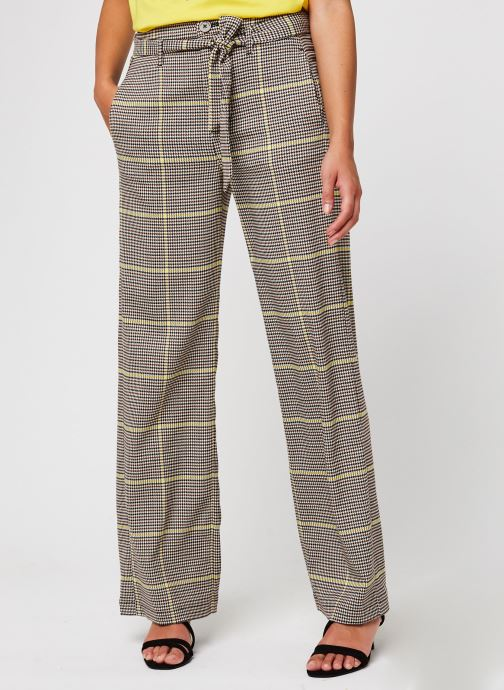 Vêtements Accessoires Wide leg belted pants in special check