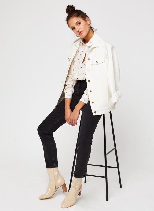Vêtements Scotch & Soda Cotton modal all over printed shirt with round collar Blanc vue bas / vue portée sac