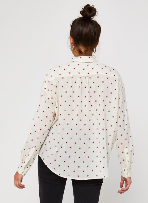 Vêtements Scotch & Soda Cotton modal all over printed shirt with round collar Blanc vue portées chaussures