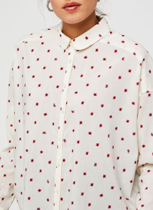 Vêtements Scotch & Soda Cotton modal all over printed shirt with round collar Blanc vue face