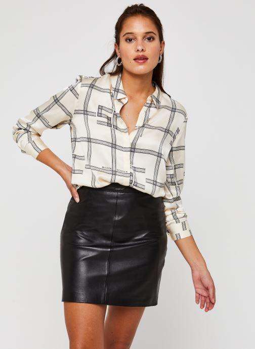 Regular drapey shirt in seasonal pattern