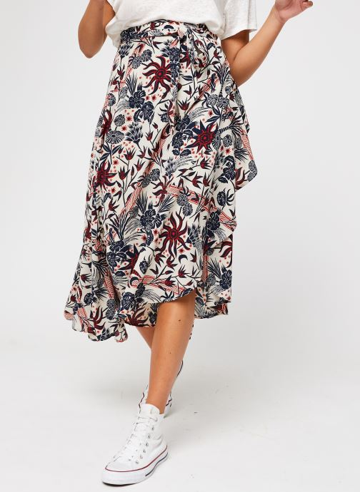 Tøj Accessories Midi allover printed wrap skirt