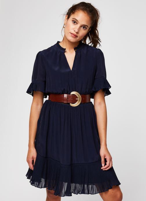 Vêtements Accessoires Feminine viscose dress with pleating details