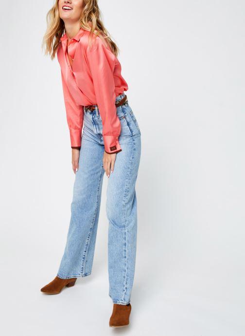 Vêtements Scotch & Soda Regular fit viscose shirt Rose vue bas / vue portée sac