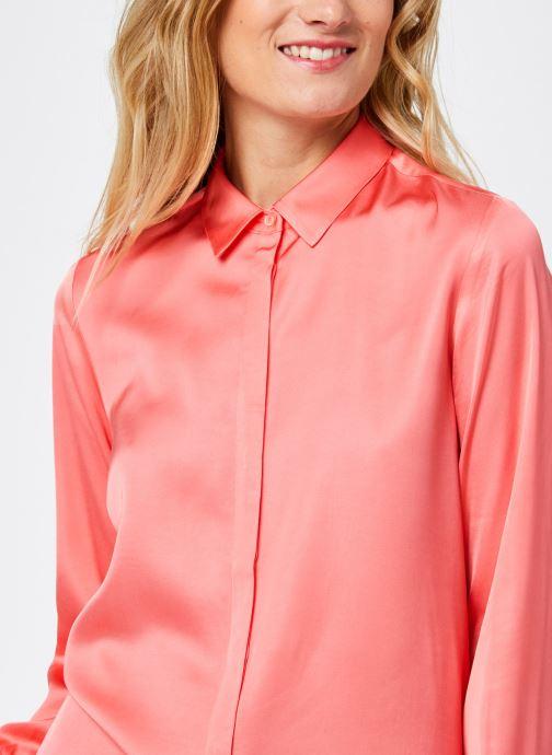 Vêtements Scotch & Soda Regular fit viscose shirt Rose vue face