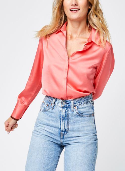 Vêtements Scotch & Soda Regular fit viscose shirt Rose vue détail/paire