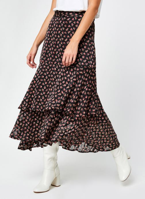 Jupe midi - Printed skirt in sheer stripe quality