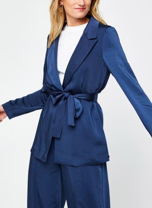 Drapey blazer in satin quality