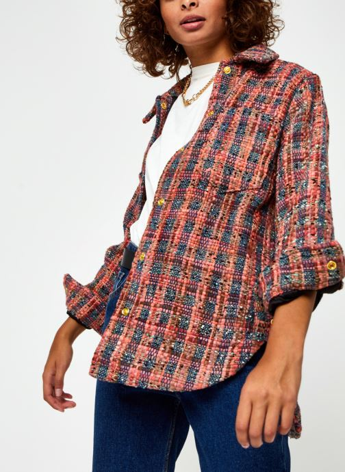 Shirt jacket in special tweed fabric
