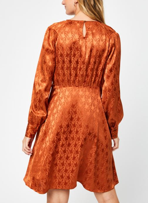 Kleding Scotch & Soda Paisley jacquard dress with waist seam and peplum at bottom Bruin model