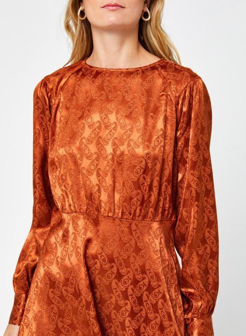 Kleding Scotch & Soda Paisley jacquard dress with waist seam and peplum at bottom Bruin voorkant
