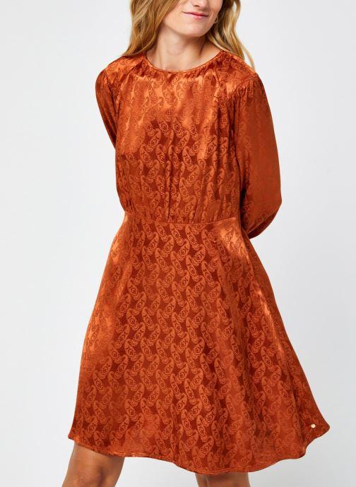Kleding Scotch & Soda Paisley jacquard dress with waist seam and peplum at bottom Bruin rechts
