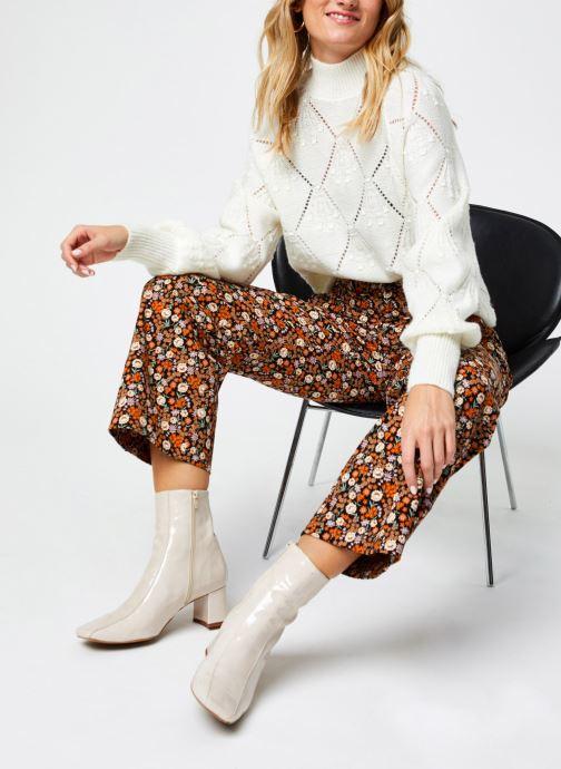 Vêtements Scotch & Soda Wide leg twill pants in floral print Multicolore vue bas / vue portée sac