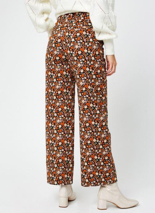 Vêtements Scotch & Soda Wide leg twill pants in floral print Multicolore vue portées chaussures