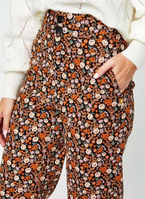 Vêtements Scotch & Soda Wide leg twill pants in floral print Multicolore vue face
