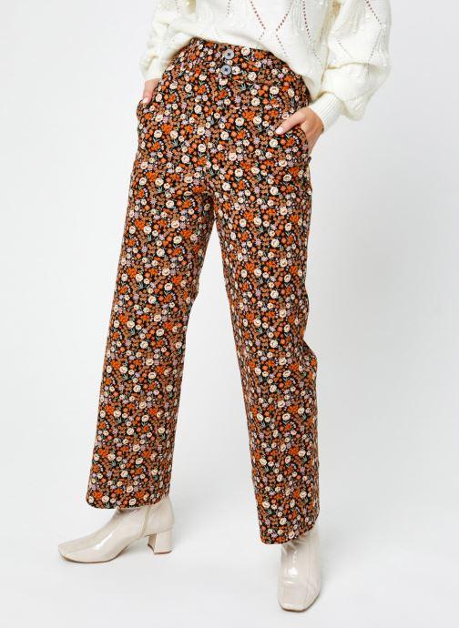 Vêtements Scotch & Soda Wide leg twill pants in floral print Multicolore vue détail/paire