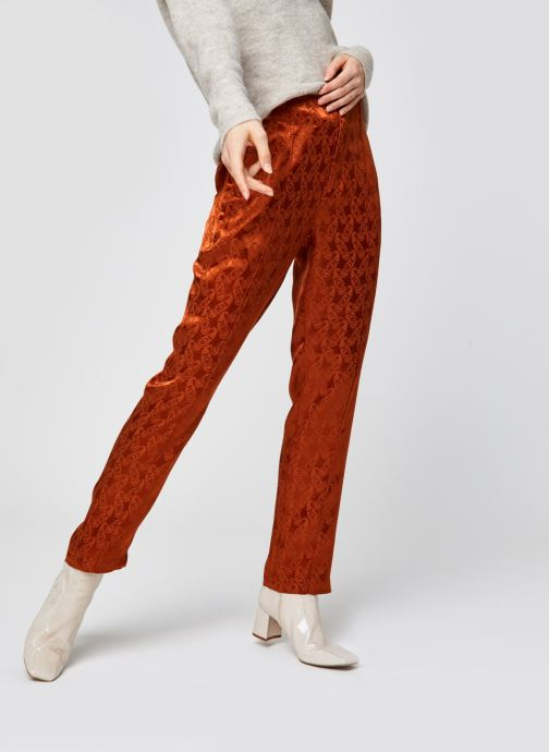 Tailored pants in paisley jacquard