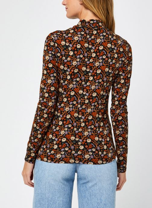 Vêtements Scotch & Soda Printed long sleeve tee with high neck Multicolore vue portées chaussures