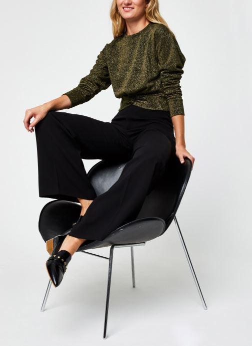 Vêtements Scotch & Soda Cropped knotted long sleeve tee in lurex jersey quality Vert vue bas / vue portée sac