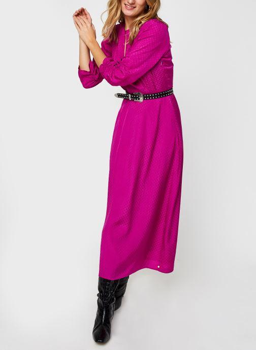 Vêtements Scotch & Soda Midi length jacquard dress Rose vue bas / vue portée sac