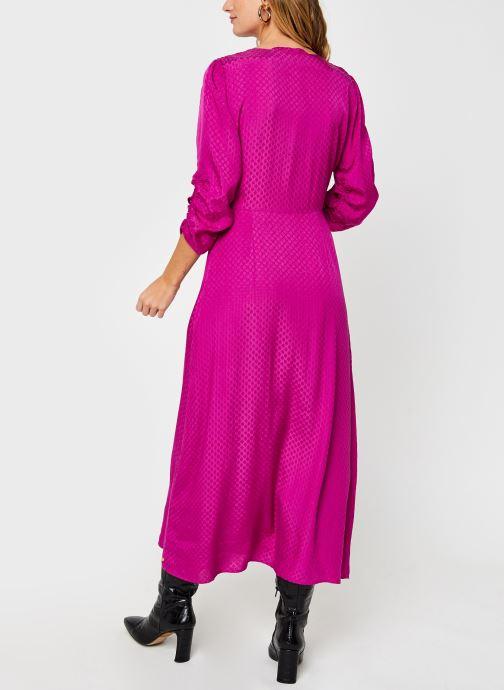 Vêtements Scotch & Soda Midi length jacquard dress Rose vue portées chaussures