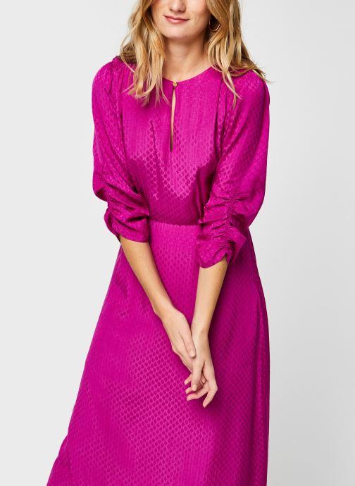 Vêtements Scotch & Soda Midi length jacquard dress Rose vue droite
