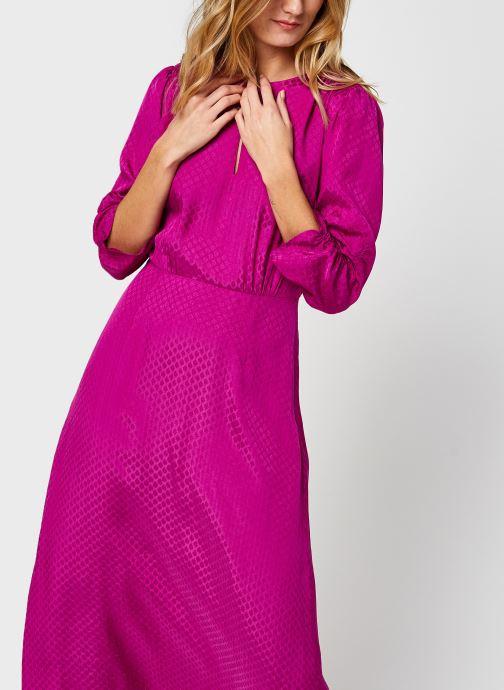 Midi length jacquard dress