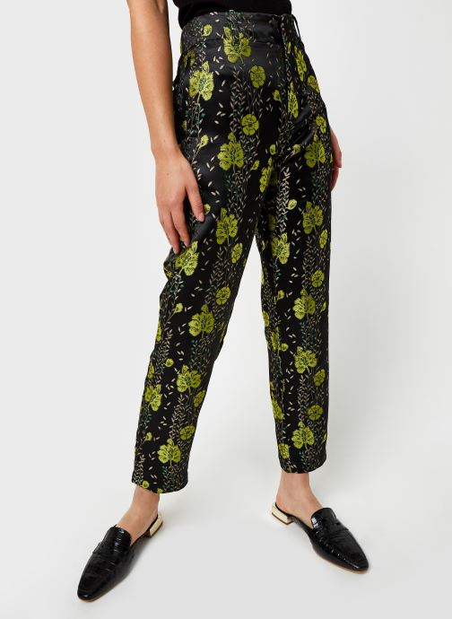 Pantalon chino - Tailored pants in floral jacquard