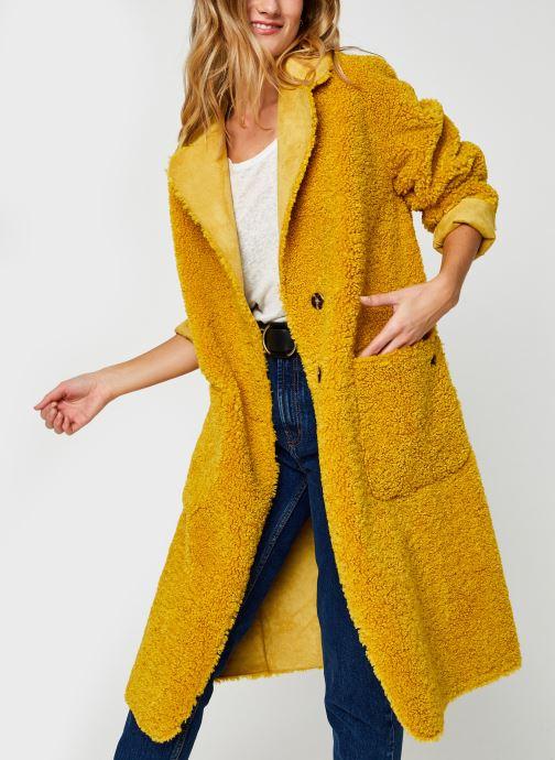 Long reversible teddy jacket