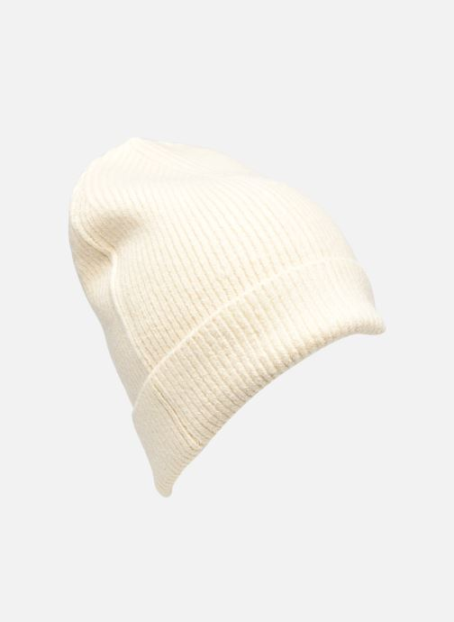 Bonnets Scotch & Soda Classic knitted beanie Beige vue détail/paire