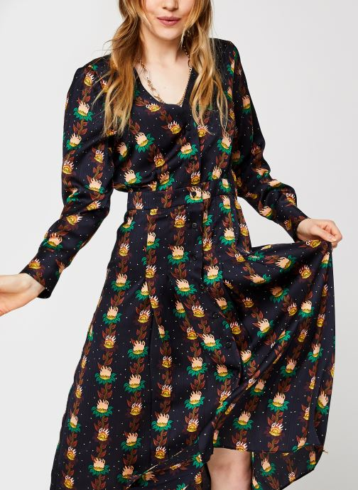 Vêtements Accessoires Printed v-neck midi length dress with pleats