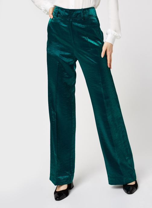 High waisted wide leg pants in metallic quality