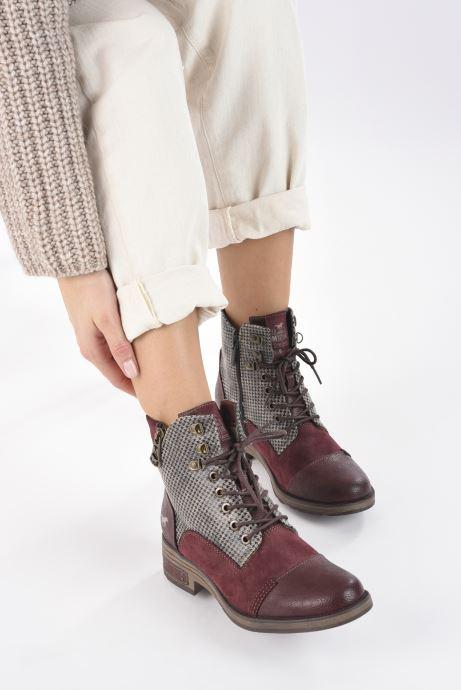 Bottines et boots Mustang shoes Elka Bordeaux vue bas / vue portée sac