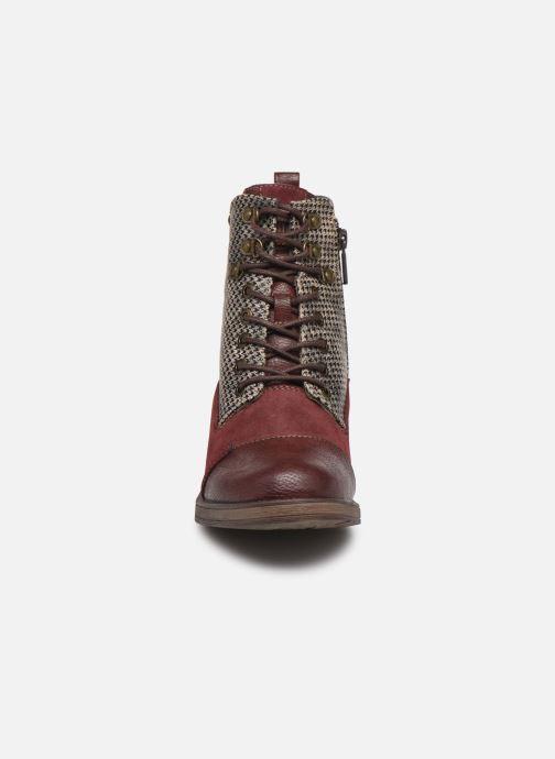 Bottines et boots Mustang shoes Elka Bordeaux vue portées chaussures