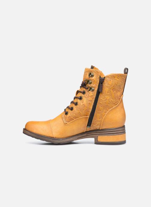 Stiefeletten & Boots Mustang shoes Assya gelb ansicht von vorne