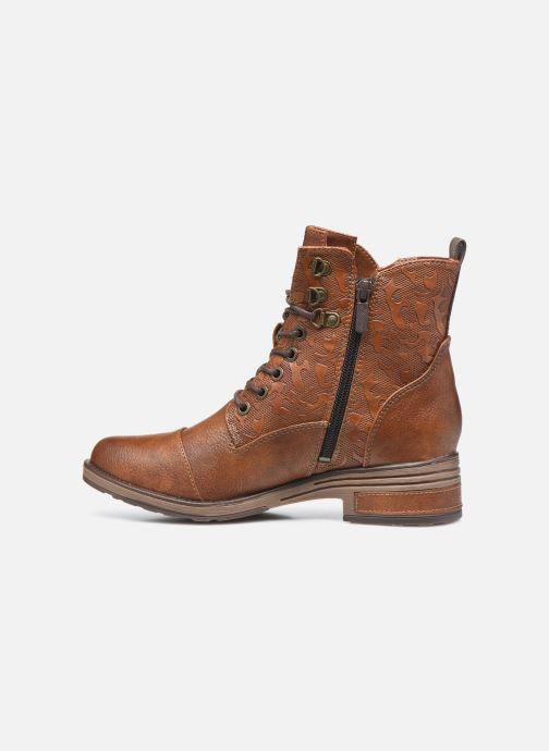 Bottines et boots Mustang shoes Assya Marron vue face