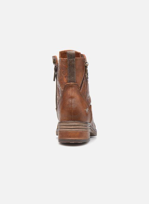 Bottines et boots Mustang shoes Assya Marron vue droite