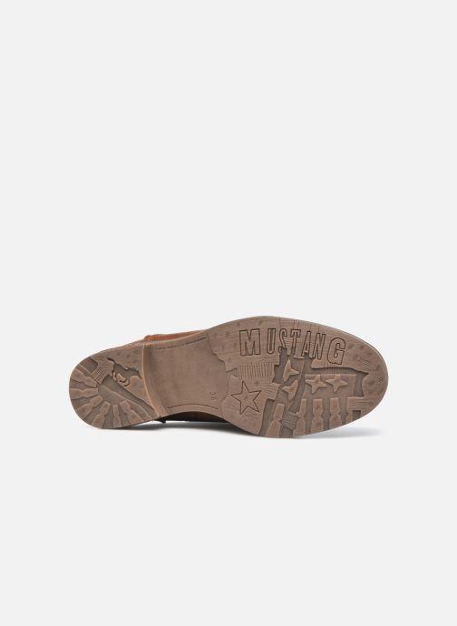 Stiefeletten & Boots Mustang shoes Assya braun ansicht von oben